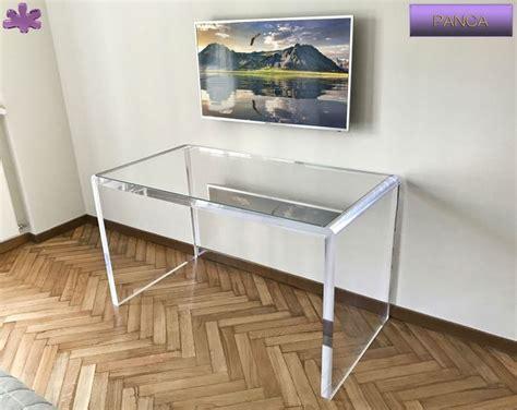 scrivania plexiglass 18 migliori immagini acrylic writing desks scrivanie in