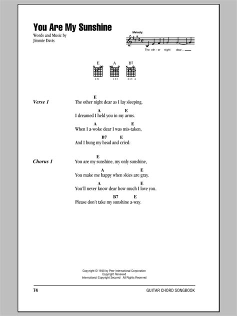 my chords you are my by jimmie davis guitar chords lyrics