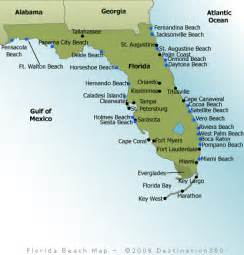 florida beaches map florida map