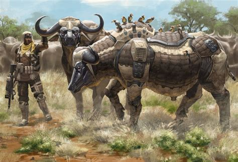 Buff Natgeo Africa 1407030 artist supports anti poaching caign through a series of animal inspired robot illustrations