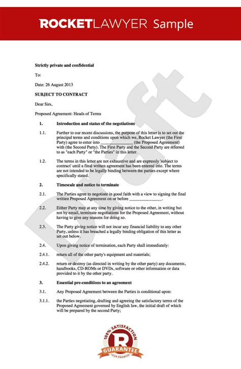 Letter Of Intent Will Template Letter Of Intent Business Template