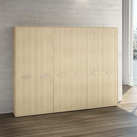 armadi per ufficio in legno armadio 6 ante legno 273 x h 211 cm linekit