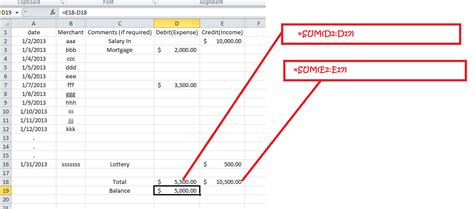 Debit Credit Formula Excel Mac Excel 2011 If Formatting For Simple Expense Tracker Stack Overflow