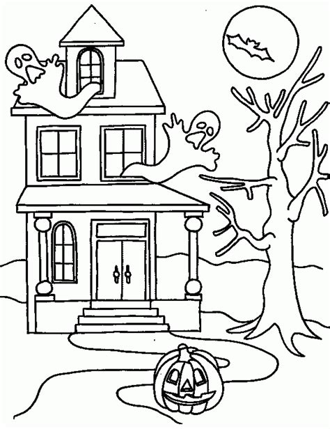 halloween house coloring page halloween coloring pages haunted house coloring home
