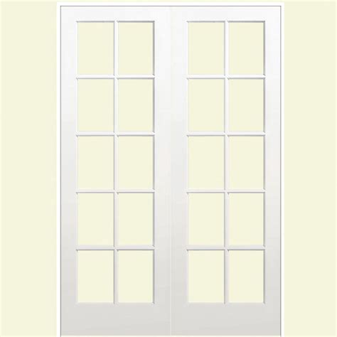 60 Closet Doors Masonite 60 In X 80 In Smooth 10 Lite Solid Primed Pine Prehung Interior Door