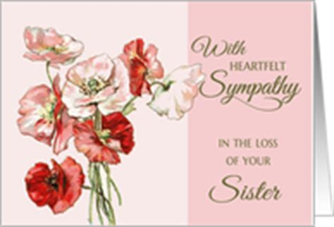 sympathy cards  loss  sister  greeting card universe