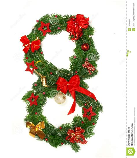christmas alphabet number 8 stock photo image 16640080