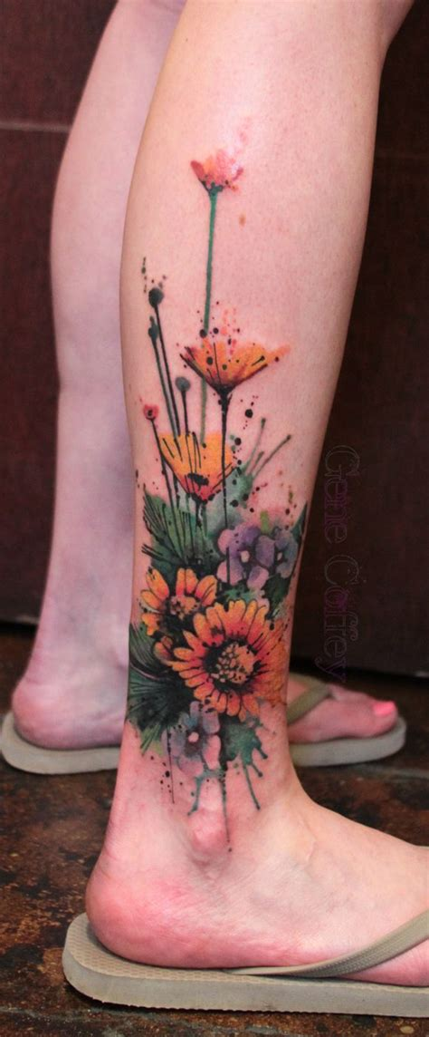 watercolor tattoos longevity best 25 sunflower foot tattoos ideas on