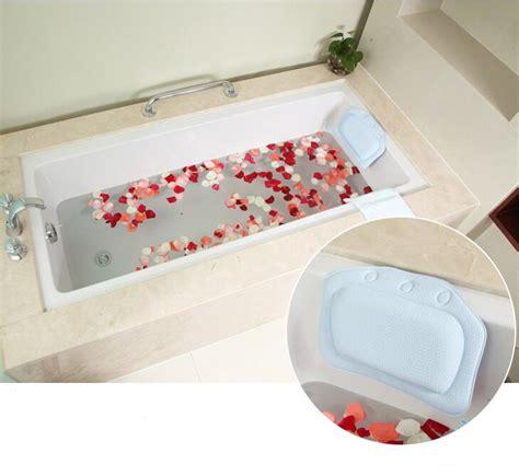 bathtub neck pillow new sucker waterproof neck bath pillow massager pvc foam soft plain bath spa pillow