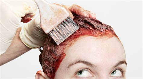 coloring hair use hair dye for flags with salon or box color