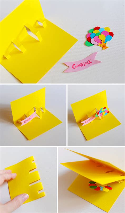 How To Make A Birthday Card Out Of Construction Paper - diy pop up cards