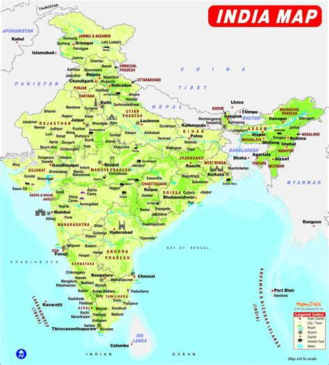 india map with country names india maps