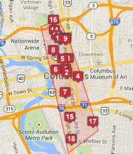 Map Of Downtown Columbus Ohio by Pics Photos Downtown Columbus Hotels Map