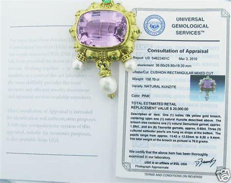 Silver Pink Kunzite 6 60ct gold garnet kunzite pearl brooch at 1stdibs