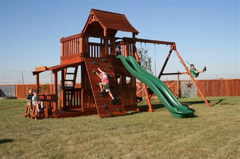 wooden backyard playsets backyard slides for kids wooden best outdoor playsets for