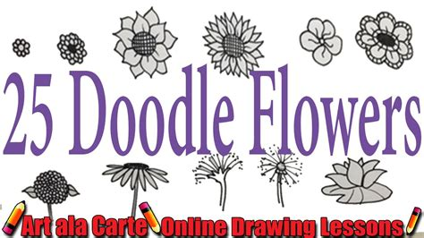 how to draw doodle flowers how to draw 25 doodle flowers