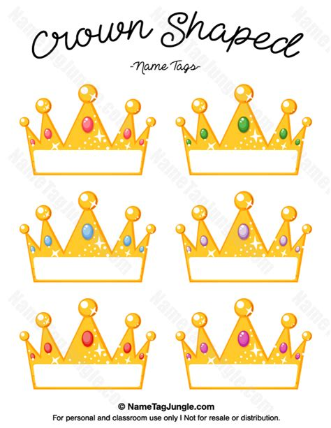 Shaped Place Card Template by Free Printable Crown Shaped Name Tags The Template Can
