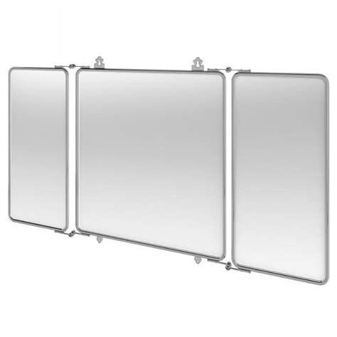 bathroom mirror chrome arcade three fold chrome bathroom mirror bathroom mirror