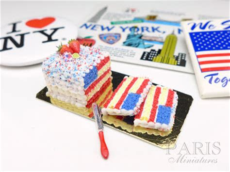 Miniatur Mini Collection Cookies Dan Snack Set miniatures happy fourth of july