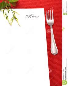 menu card stock image image of recipe flower lunch