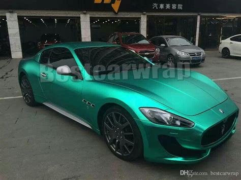 matte teal car tiffany blue matte chrome vinyl car wrapping film with air