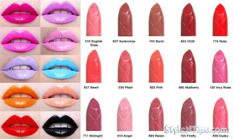 lipstick colors top 10 lipstick colors brand in the world