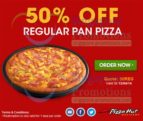 pizza hut singapore coupons code