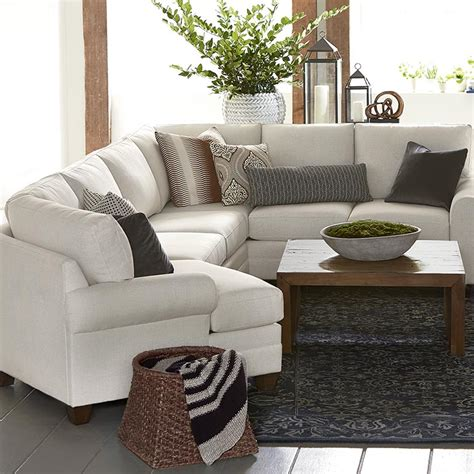 how to place pillows on a sectional cu 2 left cuddler sectional sofa bassett home furnishings