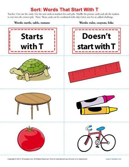 4 Letter Words Beginning With T