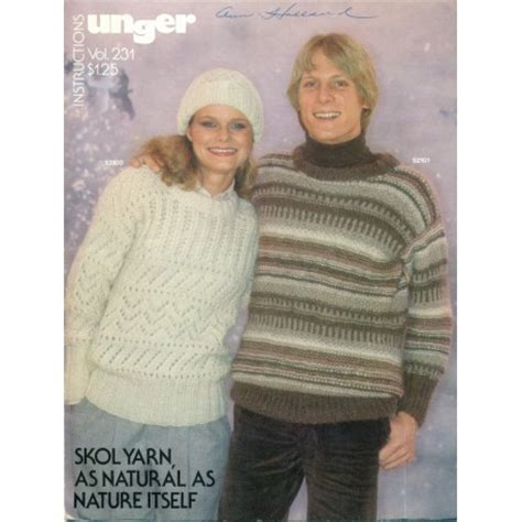 aran knitting pattern books unger knitting pattern book aran 1970s elegance