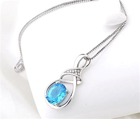 sterling silver and swiss blue topaz gemstone