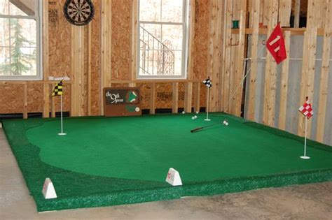 basement putting green for the home my