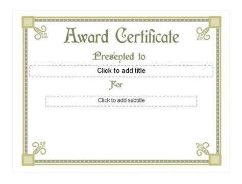 free award certificates 8 templates for certificates free