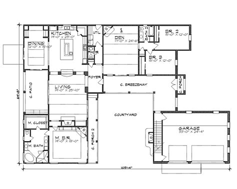 hacienda style floor plans small hacienda style home plans houses plans designs