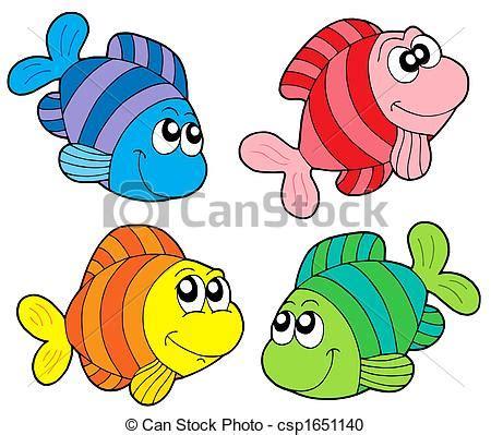 pesce clipart archivio illustrazioni di pesci strisce collezione