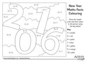 new year facts about the monkey 2016 maths facts colouring page dessins