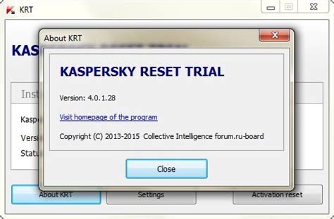 kaspersky trial resetter 2015 english kaspersky reset trial 4 0 1 28 2015 multi русский