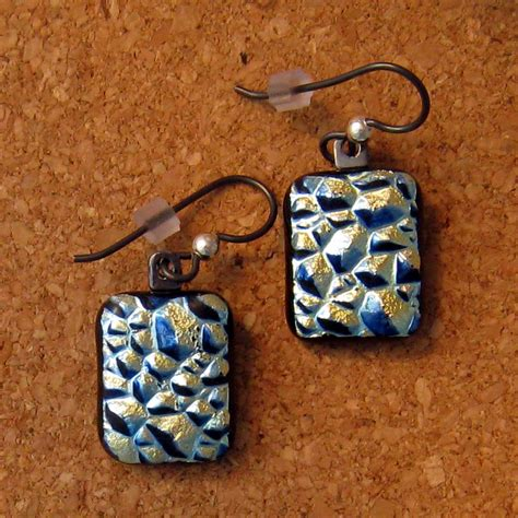 dichroic jewelry dichroic earrings dichroic jewelry fused glass earrings fused