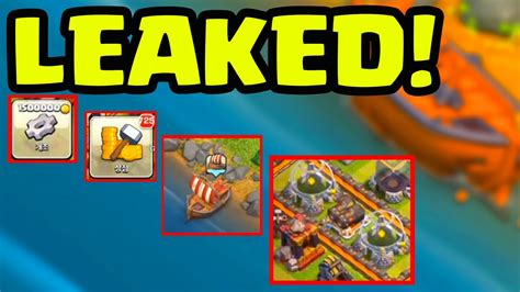 update gameplay leaked clash of clans boat update footage - Clash Of Clans Boat Gameplay