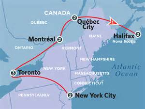 new york canada map eastern canadian adventure amtrak vacations 174 official site