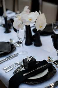 black and white table setting wedding table settings and centerpieces ideas and pictures