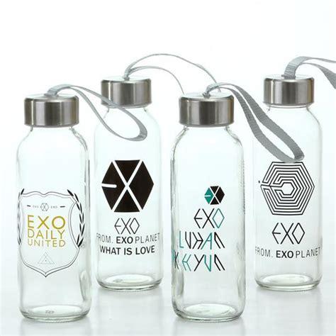 Creative Portable Sports Glass Water Bottles 300ml Botol Minum creative portable drink glass bottle kpop exo design leisure sport water kettle cup mug 300ml