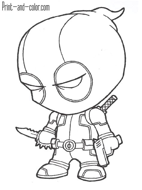 print color pages deadpool coloring pages print and color