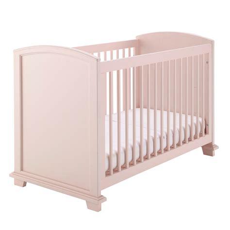 lit bebe en bois lit b 233 b 233 224 barreaux en bois l 131 cm pastel maisons du monde