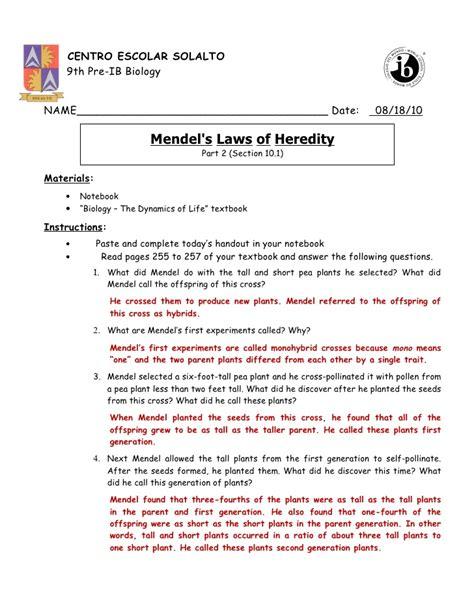 section 11 3 exploring mendelian genetics answer key section 11 the work of gregor mendel anderson ayela 1st