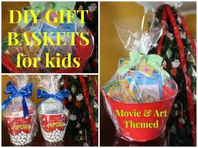 diy movie art themed gift baskets for kids budget