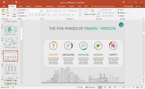 Animated Six Sigma Powerpoint Template Dmadv Template