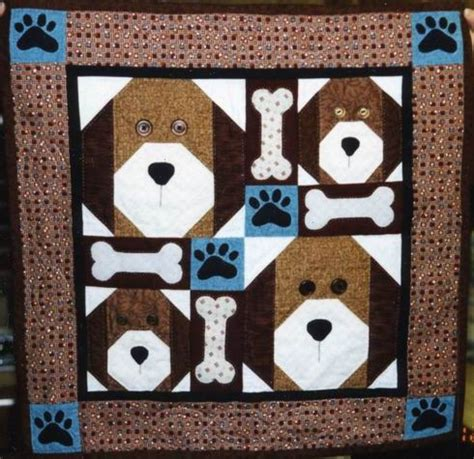 Puppy Quilt Pattern by S Quilts Applique Quilt Patterns Quilt Patterns