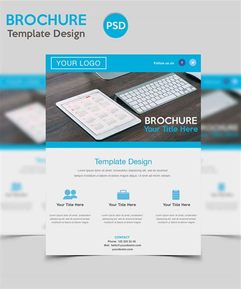 brochure photoshop templates useful free photoshop psd files for designers freebies