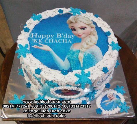 cara membuat kue ulang tahun edible foto luch luch cake kue tart edible foto frozen elsa